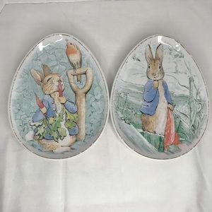 Pottery Barn Melamine Easter Egg plates